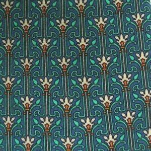 Green Foulard Silk Tie