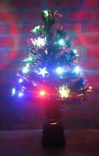 "Christmas Tree w/ Bright Colorful Blinking Star Lights Tabletop USB 18"" Tall New"