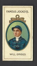 TADDY - FAMOUS JOCKEYS (WITH FRAME) - WILL GRIGGS