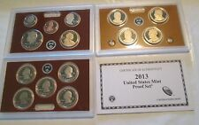 2013 U. S. Mint Proof set 14 coin Set Quarters President Box & COA
