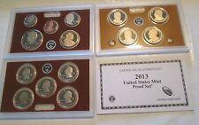 2013 U. S. Mint Proof set 14 coin Set Quarters President Box & COA