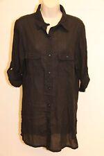 New Ralph Lauren Cover up Dress Size S Black Long Sleeve Shirt