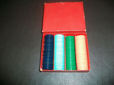 Vintage Box of 140 Gaming Counters 4 Colours 20mm Free P+P