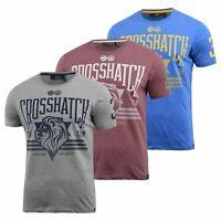 Mens Crosshatch T-Shirt Contrast Short Sleeve Tee Top Penycoat