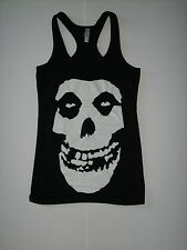 FREE SAME DAY SHIPPING NEW WOMENS MISFITS  RACERBACK COTTON/SPANDEX TANK SMALL