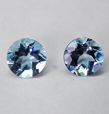 MATCHING PAIR 2.19ct AQUAMARINE NATURAL COLOUR FACETED IN GERMANY +CERT INCLUDED