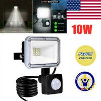 10W LED Flood Light Motion Sensor Security Lights Garden Wall Yard Outdoor Lamp