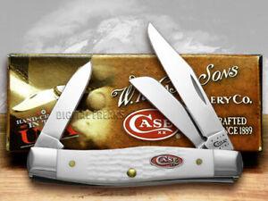 Case xx Sparxx Medium Stockman Knife Jigged White Delrin Pocket 60184