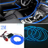 Universal Car 2M Interior LED Decor Wire Strip Atmosphere Neon Cold Light Blue