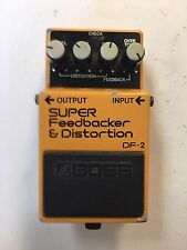 Boss DF-2 Super Feedbacker & Distortion Vintage 1985 Guitar Effect Pedal Japan