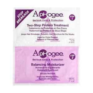 Aphogee Two-Step Protein Treatment 1 oz & Balancing Moisturizer 0.75 oz