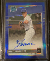 2020 Donruss Optic Nico Hoerner Blue Holo Rated Rookie /75 SP AUTO RC Cubs ⚾️🔥