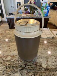Vintage GOTT 1/2 Gallon Brown Water Jug Cooler Model 1502 - Excellent Condition