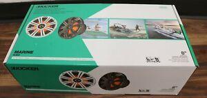 "NEW KICKER 45KM84L 8"" LED Coaxial Marine Speakers KM8 pair NR Clearance SALE"