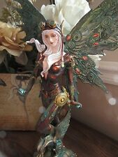 13 inch Steampunk Aviator Fairy Figurine with Robotic Wings and goggles BNIB