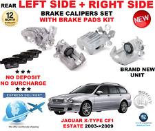 Para Jaguar Tipo X TRASERO Calibrador Izquierdo + DERECHO CON Pastillas Kit