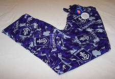 Fremantle Dockers Logo AFL Mens Camo Printed Flannel Sleep Pants Size L New
