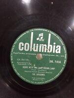 "THE SHADOWS little princess/genie lamp INDIA RARE 78 RPM columbia RECORD 10""VG++"