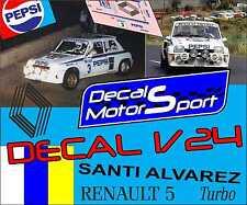 Decal 1/24 Renault 5 Turbo S. Álvarez - J. Leon Rally Isla G. de Canaria 1987