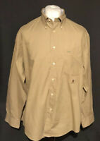 Tommy Hilfiger Men's Casual Shirt Brown Large 100% Cotton Long Sleeve