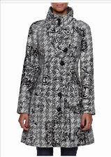 New Desigual Abrig Tormenta Coat/Jacket in Grey/Black/White Size 44 AU14-16