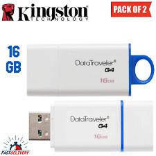 KINGSTON DATA TRAVELER G4 USB FLASH MEMORY DRIVE 16GB - (Pack of 2)