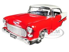 "1955 CHEVROLET BEL AIR RED ""BIG TIME MUSCLE"" 1/24 DIECAST MODEL CAR JADA 98938"