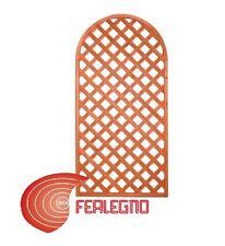 PANNELLO GRIGLIATO AD ARCO IN LEGNO TRATTATO 90X180CM GIARDINO ESTERNO ART.2404