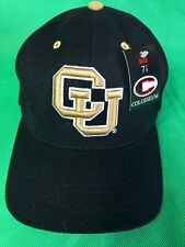 H90 NCAA University of Colorado Buffaloes Colosseum NWT Fitted Hat/Cap 7-1/8