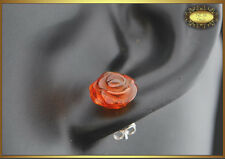 Lovely Natural Baltic Amber Earrings Cognac