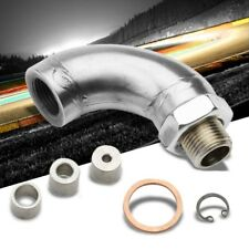 Exhaust Catalytic Converter M18X1.5 90 Degree O2 Sensor Defouler+3 Flow Inserts
