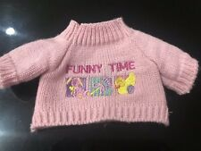 Fit For 18'' American Girl Doll / Og Doll Pink Funny Time Sweater Only Preowned