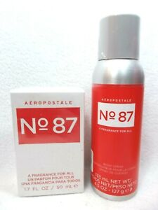 Aeropostale No. 87 #87 A FRAGRANCE FOR ALL Cologne Spray + Body Spray 2 pc set