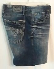 """Salvage by Buckle Anarchy Relaxed Straight CUT OFF Jean Shorts size 33R w 35"""""""