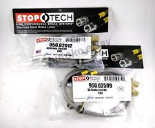 STOPTECH STAINLESS STEEL FRONT + REAR BRAKE LINES FOR 10-15 CHEVROLET CAMARO SS