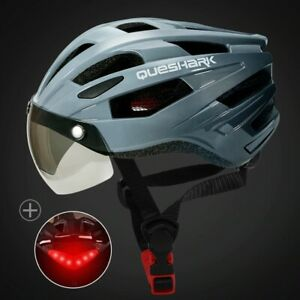 LED Bicycle Helmet With Tail Light Road Bike Helmets Cycling Adults Sports