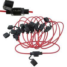 10PCS In-Line Car Mini Blade Fuse Holder Cable Kit Waterproof 18AWG 12V/24V DC