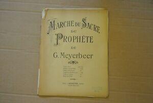 partition MEYERBEER MARCHE DU SACRE DU PROPHETE pour VIOLON et PIANO