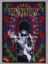 Indian Wall Hanging Jimi Hendrix in Studio Poster Music Guitar Dorm Decor Hippie