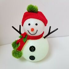 Philips Christmas LED Snowman Light Up Battery Operated Color Changing W/ Timer!