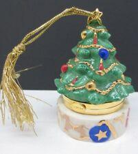 LENOX Trinket Box Fine China Christmas Tree Hinged Top Treasures Collection