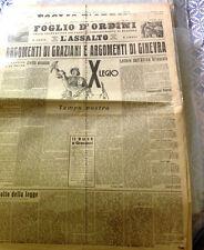 Foglio d'ordini dei Fasci .. di Bologna-L'assalto,X legio-1936 -Colonie,Graziani