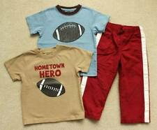 Boys Gymboree Blue Brown Sports Football Shirts Red Athletic Pants 2 2T