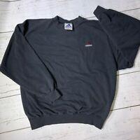 Vintage Adidas Black Maroon Sweatshirt Logo Mens XXL