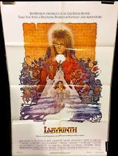 Labyrinth Original Movie Poster - David Bowie - 1986 - VF