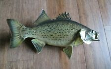 """New listing 16"""" White Bass Stripper Real Skin Taxidermy Fish Mount home lodge decor"""