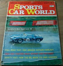 1965.Sports Car World.DATSUN Fairlady.Honda S600 v Sprite.MG.PEUGEOT Petite 204