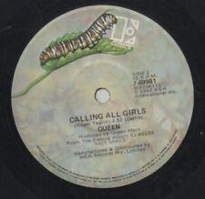"QUEEN   Rare 1982 Australian Only 7"" OOP Elektra Rock Single ""Calling All Girls"""