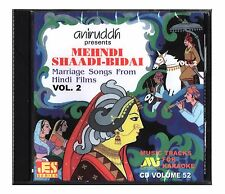 Hindi Karaoke CD Mehndi Shaadi Bidai Marriage Songs Hindi Films Vol 2 Aniruddh