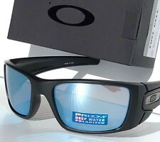 NEW* OAKLEY FUEL CELL Black POLARIZED Deep Water Blue PRIZM Sunglass oo9096-D8